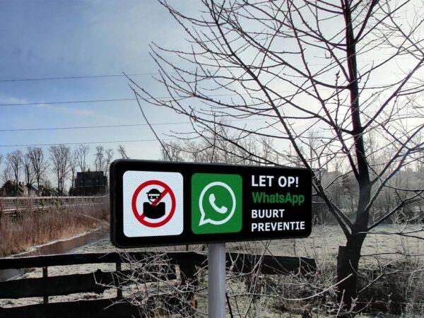 WhatsApp buurtpreventie bordjes